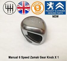 Peugeot RCZ 208 308 Expert 4 Manual 6 Speed Gear Knob Gearstick Genuine Zamak