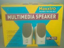 CASSE ALTOPARLANTI MAXXTRO 140W MUTI MEDIA SP-321 PC COMPUTERS 2x0,5 WATT-SINUS