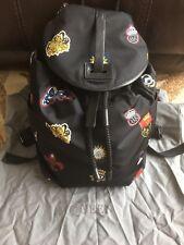ALEXANDER MCQUEEN Printed Nylon NavyCarryall Backpack$2095