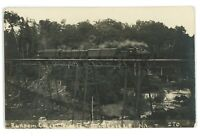RPPC Little Falls Dolgeville Railroad Bridge Ransom Creek NY Real Photo Postcard