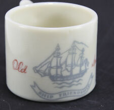 Vintage Shulton OLD SPICE Glass Shaving Mug Ship Friendship 1948-1950's Mug #1