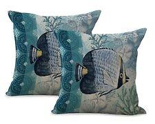 Us Seller-set of 2 marine life sea animal fish cushion cover decorator cushions