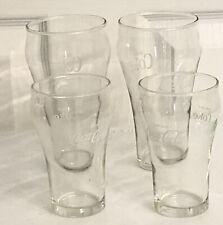 Vintage Coke-Cola glasses clear/white set of 4