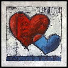 Ria Heart III póster imagen son impresiones artísticas con marco de aluminio en negro 60x60cm