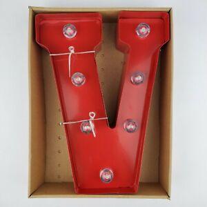 Marquee Lettering LED Letter V Vintage Style Sign. NOS.
