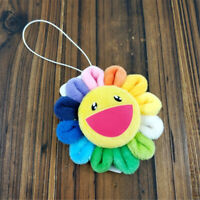 Takashi Murakami Kiki Kaikai Flower Brooch Rainbow Pin Badge Strap Plush Gift