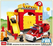 *** 69 Piece Fire Story blocks - Lego Duplo Compatible ***