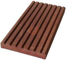Terrassendiele Holz massiv 25x145mm Massaranduba MUSTER Diele Oberfläche genutet