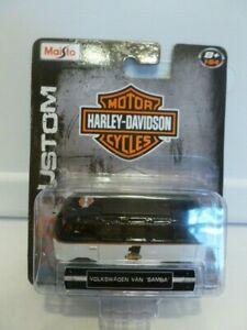 Maisto Harley Davidson Custom Volkswagen Van Samba