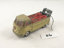 CORGI # 490 VW VOLKSWAGEN BREAKDOWN TRUCK DIECAST 1967 BIEGE CONCAVE HUBS