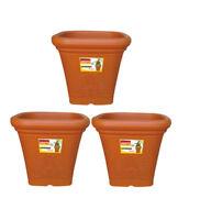 Garden Home Planter Pot 7 Inch Ghamla 3 Pcs Set Home Decor Square Pot Aristo