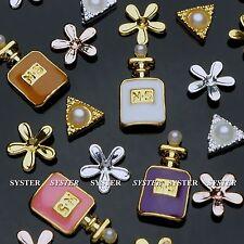 20 Pcs 3 Styles 3D Nail Art Perfume Decoration Alloy/Pearl Jewelry+Wheel SB-109A