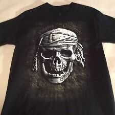 PIRATES of the CARIBBEAN Adult MEDIUM Disneyland Double Sided Textured T-Shirt