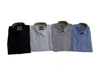 James & Nicholson Herren Hemd JN062 Kurzarm weiß schwarz grau blau navy S - XXL