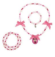 Disney Store Minnie Mouse Costume Dress Up Jewelry Necklace Bracelets 3pc Set
