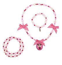 Disney Store Minnie Mouse Costume Dress Up Jewelry Necklace Bracelets 3pc Set