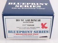 Branchline 1117 HO 50' AAR Double Door Boxcar Kit Wabash WAB #20735