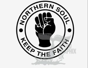 Northern Soul Sticker 70mm Scooter Stickers Mod Soul Wigan KTF Torch