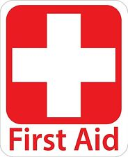 First Aid Kit Vinyl Sticker Decal Sign Health Safety Cross 4 stickers