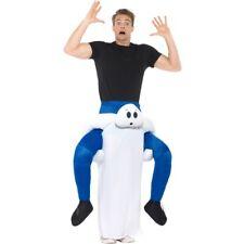 Sur le Dos Ghost Costume Adultes Halloween Déguisement Homme Femme Ghost