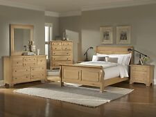 Modern Cherry Wooden 4 Piece Bedroom Set Queen Size