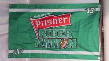 Saskatchewan Roughrider/Old Style Pilsner Flag - Rider Nation Version - 2 Sided