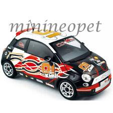 NOREV 187733 2008 FIAT 500 WROOM 1/18 DIECAST MODEL CAR KIMI RAIKKONEN BLACK