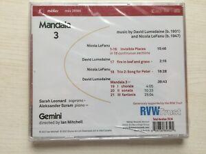 Gemini Mandala 3 - David Lumsdaine & Nicola LeFanu  CD NEW & SEALED
