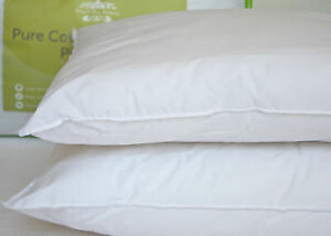 100% Cotton Anti Allergy Pillow PAIR Ideal for Asthma and Eczema Sufferers