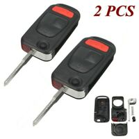 2x Flip Remote Key Fob Case Shell For Chrysler Crossfire Mercedes-Benz SLK230