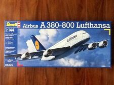 REVELL 1/144 AIRBUS A 380-800 LUFTHANSA AIRLINER MODEL KIT 04270 FACTORY SEALED