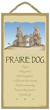 Advice from a Prairie Dog Inspirational Wood Animal Nature Sign Plaque Usa Made