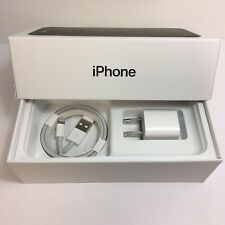 IPHONE 7 EMPTY RETAIL BOX AND NEW ACCESSORIES plug charger manual sim