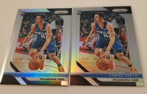 (2) 2018-19 Panini Prizm Zhaire Smith Rookie Silver Prizm #189 Lot 76ers