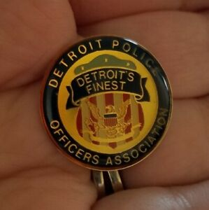 Vintage Michigan Detroit Police PIN Lapel Jacket Hat Tie Officers Association