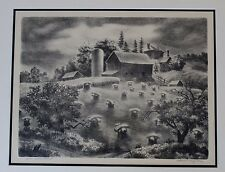 EDWARD FERGUSON (1914-2001) ORIGINAL 1941 SIGNED L/E LITHOGRAPH WPA MICHIGAN
