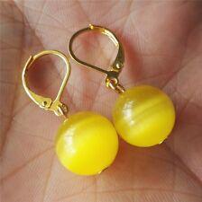 Opal Ohrringe, 12mm gelb Opal Laver zurück Ohrringe