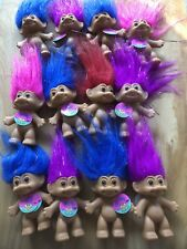 Lot 12 -New Russ Sparkling Good Luck Troll Doll, Sparkle Shine Hair, 3 inch,2973