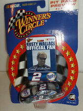 #2 RUSTY WALLACE RUSTY RACING FORD OFFICIAL FAN 2002 PREVIEW WINNERS CIRCLE 1:64