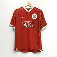 Nike Manchester United Patch Sphere Dry AIG Jersey, Red, Mens Size L, Pre-Owned