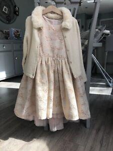 H&M Girl Dress & Cardigan Set Age 6-7 Years