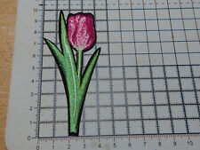 Tulip Flower (Iron - On) Embroidery Applique Patch Badge
