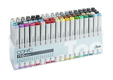 Copic Classic Marker - 72B Set -  72 Unique Colours - Refillable With Copic Inks