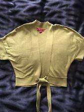 Womans MONSOON green short sleeve cardigan, size 10
