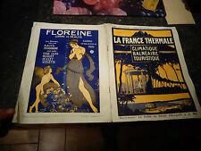 la france thermale 1923 Illustrateur Art Déco Avignon Nice Orange Arles Nimes ..