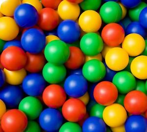 Childrens Plastic Play Balls for Ball Pits Pool Bouncy Castle Multicoloured Toys