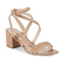 5068ac36ab80 Sam Edelman Beige Suede Sammy Strappy Open Toe Sandals Womens Size US 9M NWD