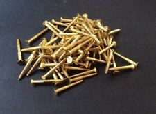 "20 x Solid Brass Countersunk Slotted Wood Screws 8g x 1 1/2"" Australian Made"