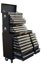 16 US Pro Tools Black Tool Chest Box 23 ball bearing drawer side cabinet finance