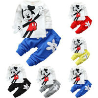 Baby Kid Toddler Boys Girls Cartoon Top & Pants Pullover T-shirt Outfits Clothes